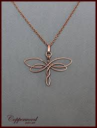 copper wire wrapped dragonfly pendant