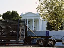 White House Continues Building 13 Foot High Anti Climb Wall After Protests The Independent The Independent