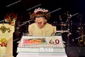 British actress, entertainer and comedian Krissie Illing celebrates her  60th birthday with a cake by..., Stock Photo, Picture And Rights Managed  Image. Pic. PAH-86360125 | agefotostock