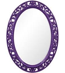 27 inch glossy royal purple wall mirror