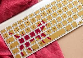 Pink Gold Cat Laptop Keyboard Decal Keyshorts