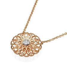 18k rose gold mandala necklace gold