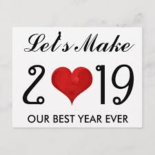 happy new year motivational quote heart holiday postcard