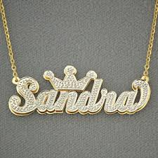 14k gold personalized 3d double plate