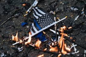 The Short Fraught History Of The Thin Blue Line American Flag Politico