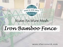 Green Color Coated Picket Bamboo Fence Steel Metal Bamboo Fencing Panel No Dig High Quality Stainless Steel Garden Fences Buy No Dig High Quality Stainless Steel Garden Fences Green Color Coated Picket