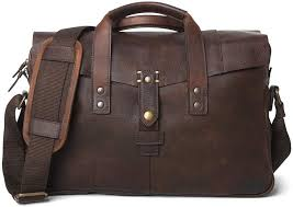 full grain cow leather briefcase