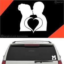 Love Kiss Auto Decal Car Sticker Topchoicedecals