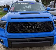 Windshield Decal Compatible With Tundra Trd Pro 48 Inch Wide Gray Blue Gray Amazon Com