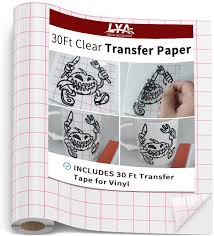 Amazon Com Lya Vinyl Transfer Tape For Vinyl 30ft Transfer Paper Roll For Silhouette Cameo Weeding Machine Decals Signs Windows Stickers Kitchen Dining