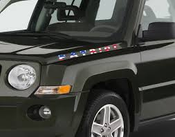 Pair Of American Flag Jeep Patriot Vinyl Decal Stickers 2x24 Made In Usa Ebay