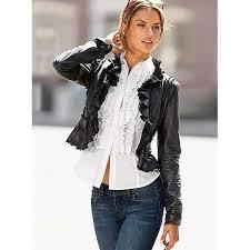 victoria s secret ruffle leather jacket