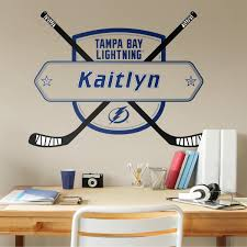Tampa Bay Lightning Personalized Name Officially Licensed Nhl Transfer Decal