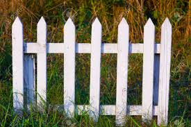 Low White Small Wooden Fence In Grass Stock Photo Picture And Royalty Free Image Image 63079666