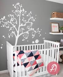 Tree Wall Decal Large Decal For Nursery White Tree Wall Decal Etsy