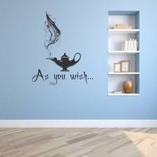 As You Wish Decal Wish Wall Decal Genie Lamp Decal Genie In A Lamp Aladdin Decor