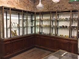 1920s corner display cabinet