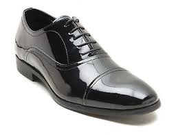 black patent leather mens formal shoes