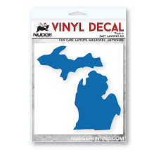 State Of Michigan Car Decal Nudge Printing