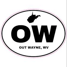 Out Wayne West Virginia Oval Sticker