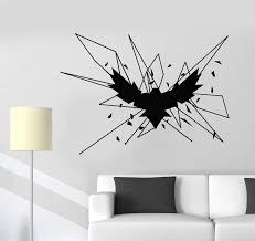 Vinyl Wall Decal Geometric Gothick Style Raven Bird Crow Stickers 270 Wallstickers4you