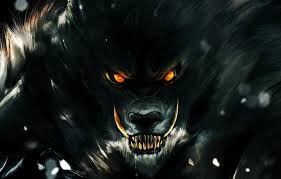 eyes look darkness wolf teeth rage
