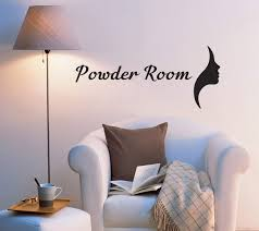 Vinyl Wall Decal Powder Room Bathroom Decor Stickers Quote Words Lette Wallstickers4you