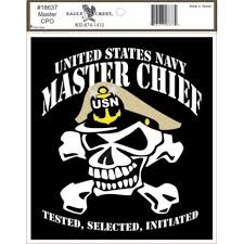 Us Navy Master Chief With Skull Outside Car Decal Sticker 2 Pack Clear 5 5 X 5 Walmart Com Walmart Com