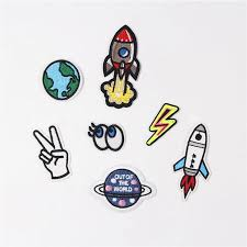 Fabric Embroidered Rocket Eye Patch Cap Clothes Stickers Bag Sew Iron On Applique Diy Apparel Sewing Clothing Accessories Bu154 Iron On Applique Iron Onapplique Iron On Aliexpress