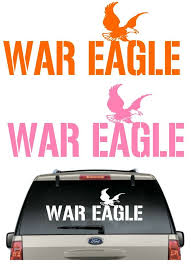 Buy 2 Get 1 Free Auburn War Eagle Car Decal Various Size Color Sticker Auburntigers Coloring Stickers War Eagle Car Decals