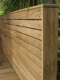 Fence Or Screen With Horizontal Vitex Battens Fixed With Stainless Steel Screws High Quality Finish Whi Privacy Fence Designs Wood Fence Design Fence Design
