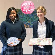 Artists of the Month: Angelica Smith and Sydney Walker - Mount de Sales  Academy