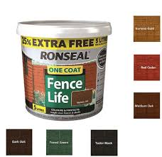 Ronseal 5l One Coat Life Quick Dry Garden Shed Fence Paint All Colours Ebay