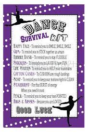 dance competition survival kits dance