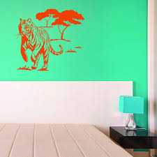 Shop Style Apply Wild Tiger Multi Color Vinyl Wall Decal Overstock 11916701