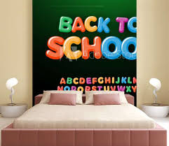 Back To School Letters And Numbers Set Kids Education Style Alphabet Font For Events Promotions Logos Banner Monogram And Poster Vector Typography Design Wall Mural Artyway