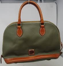 dooney bourke green brown leather