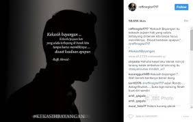 sensasi artis unggah quote galau raffi ahmad bikin heboh