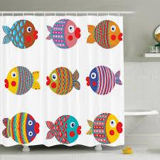 Ambesonne Kids Room Decor Fish Family Shower Curtain Set Reviews Wayfair