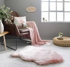 freja copenhagen faux fur rugs in pink