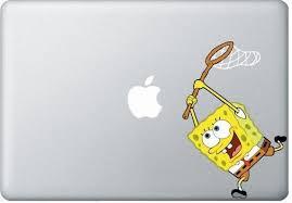 Spongebob Macbook Decals Mac Decals Macbook Pro Decal Macbook Air Decal Mac Stickers Apple Decal Ipad Ipho Iphone Skin Sticker Apple Stickers Macbook Pro Decal