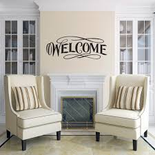 Shop Fancy Welcome Wall Decal 30 Inch Wide X 12 Inch Tall Overstock 11149778