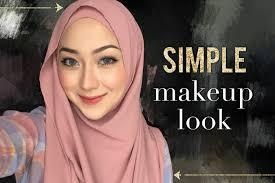 tutorial makeup hijab simple saubhaya
