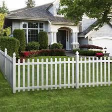 white pvc vinyl plastic garden fence