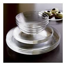 i want clear glass dinnerware