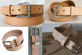 leather belts that complement raw denim