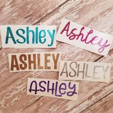 3 Glitter Name Decals Set Of 5 Jane