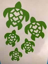 Sea Turtle Family Green Vinyl Decal Sticker Window Car Electronics Ebay