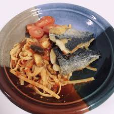 pan-fried mackerel with tomato sauce ...