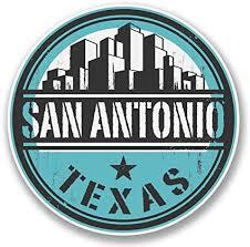 Amazon Com San Antonio Texas Usa Vinyl Sticker Decal Laptop Car Bumper Sticker Travel Luggage Car Ipad Sign Fun 5 Automotive